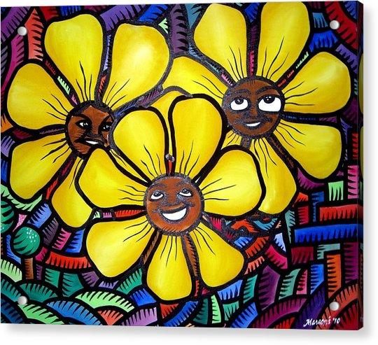 Sun Flower And Friends Manila  2010 Acrylic Print