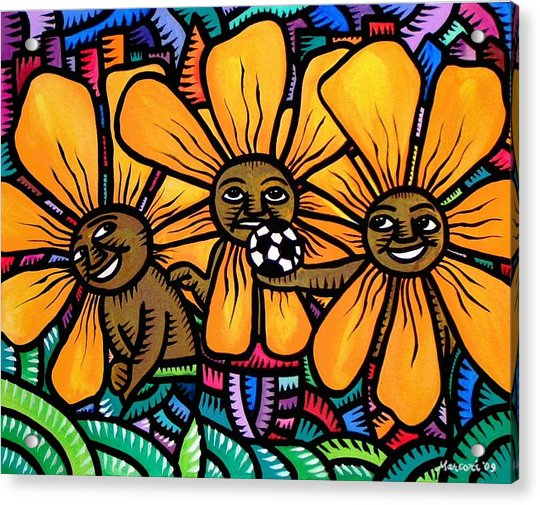 Sun Flowers And Friends Playtime 2009 Acrylic Print