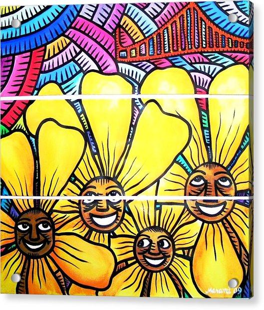 Sun Flowers And Friends Sf 1 Acrylic Print