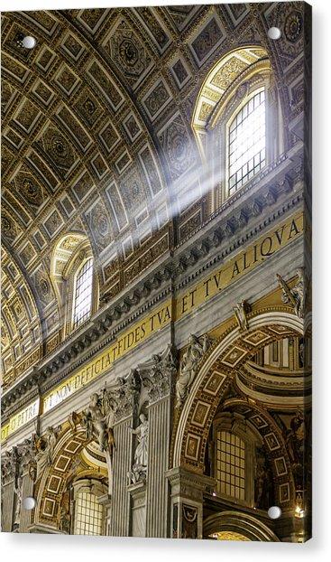 Sun Rays In St. Peter's Basilica Acrylic Print