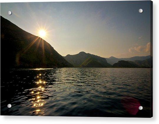 Sun Sparkles On The Mediterranean Sea Acrylic Print