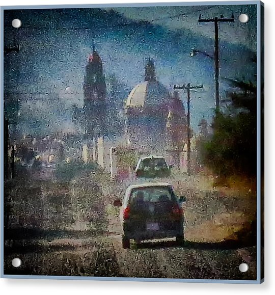 Sunday Morning Drive Acrylic Print