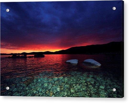 Sundown In Lake Tahoe Acrylic Print