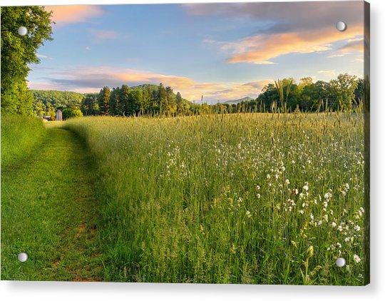 Sunny Valley Sunrise Acrylic Print