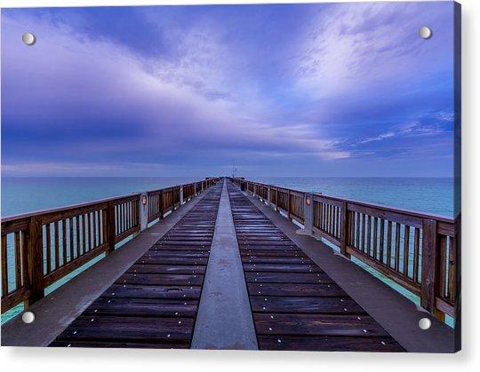 Sunrise At The Panama City Beach Pier Acrylic Print