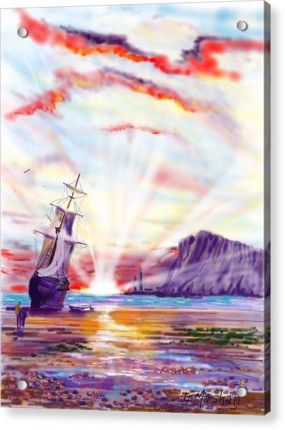 Sunrise At Whitby Acrylic Print