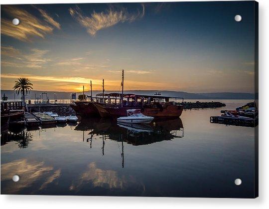 Sunrise Over The Sea Of Galilee Acrylic Print