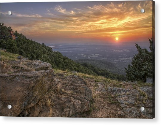 Acrylic Print featuring the photograph Sunrise Point From Mt. Nebo - Arkansas by Jason Politte