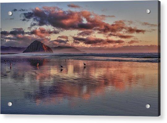 Sunset At Morro Strand Acrylic Print