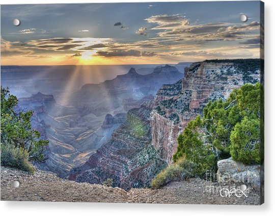 Sunset At Northern Rim Of The Grand Canyon Acrylic Print