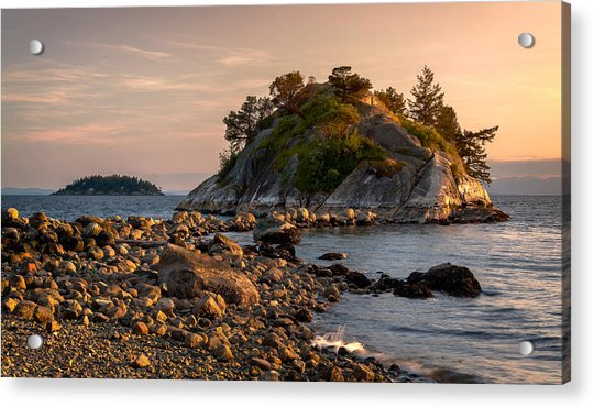 Sunset At Whyte Islet Acrylic Print