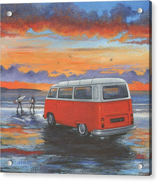 Sunset Campervan Variant 1 Acrylic Print