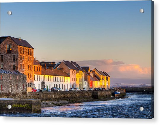 Sunset On A Beautiful Winter Day In Galway Ireland Acrylic Print
