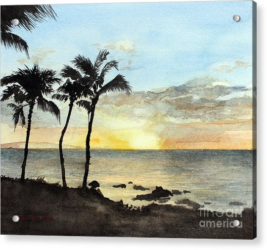 Sunset On The Coast Acrylic Print