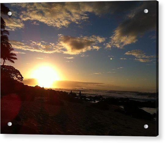 Sunset On The Ocean Acrylic Print