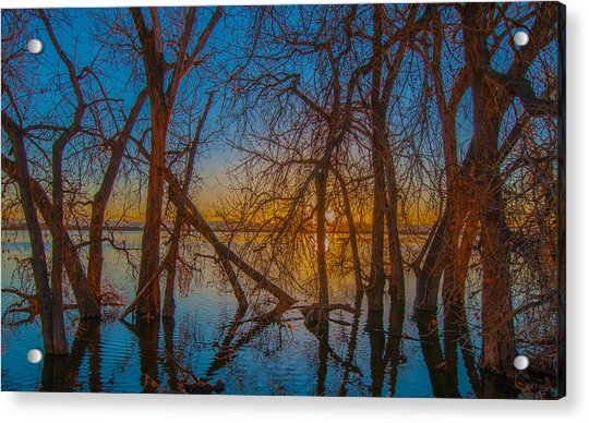 Sunset Over Barr Lake_2 Acrylic Print