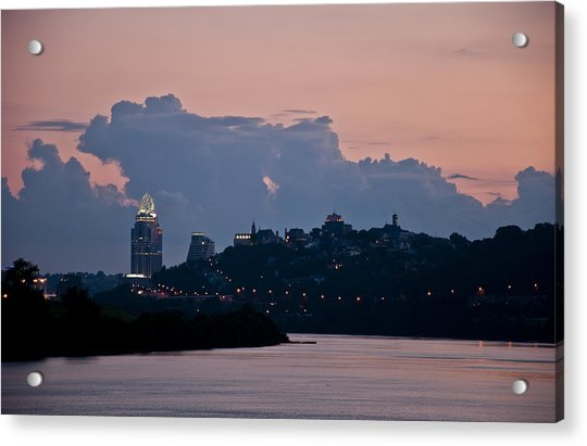 Sunset Over Cincinnati Acrylic Print