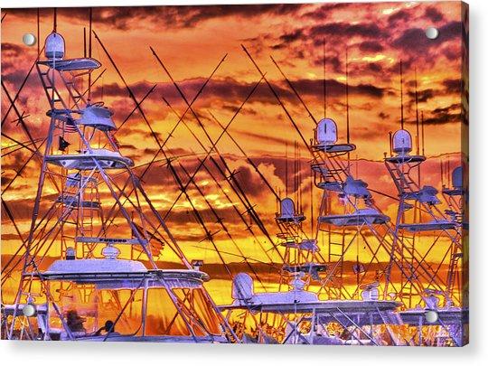 Sunset Over Marina Acrylic Print