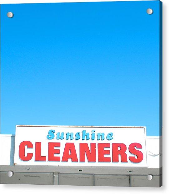Sunshine Cleaners Acrylic Print
