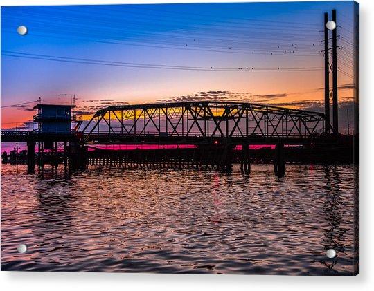 Surf City Swing Bridge Acrylic Print