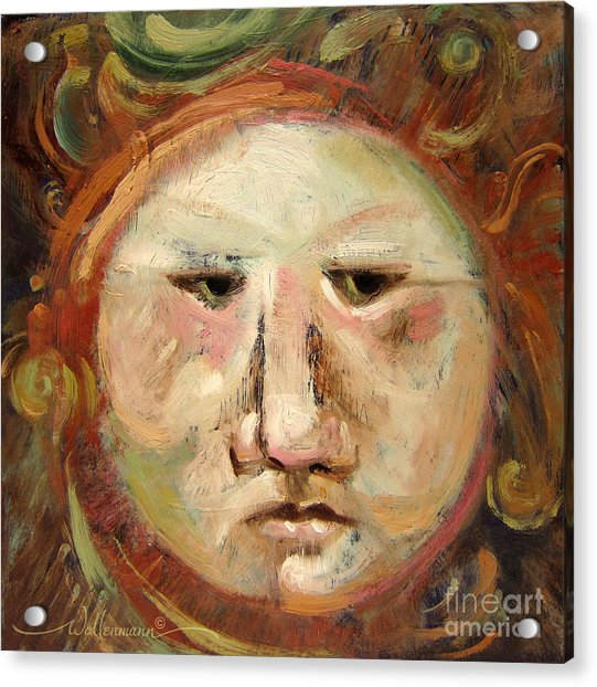 Suspicious Moonface Acrylic Print