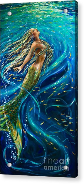 Swimming To The Surface Acrylic Print