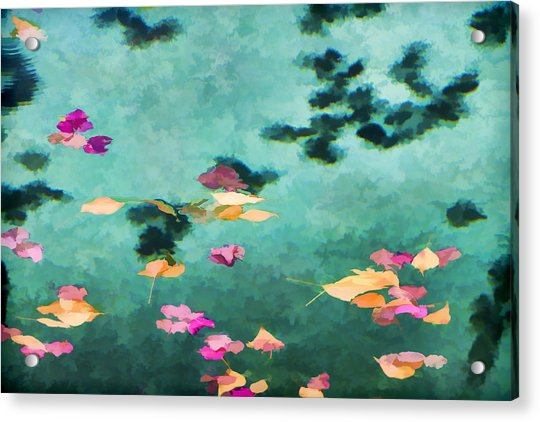 Swirling Leaves And Petals 6 Acrylic Print