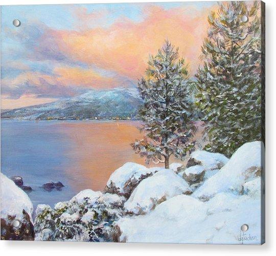 Tahoe Winter Colors Acrylic Print