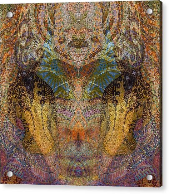 Tattoo Mask Acrylic Print