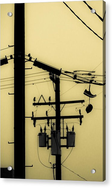 Telephone Pole And Sneakers 5 Acrylic Print