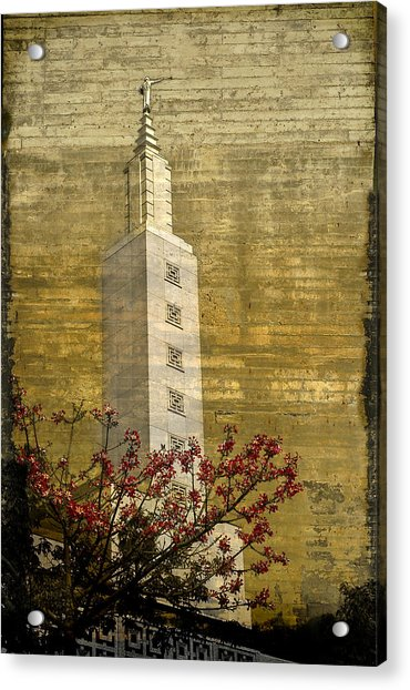 Temple With Red Acrylic Print