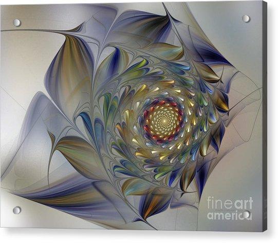 Tender Flowers Dream-fractal Art Acrylic Print