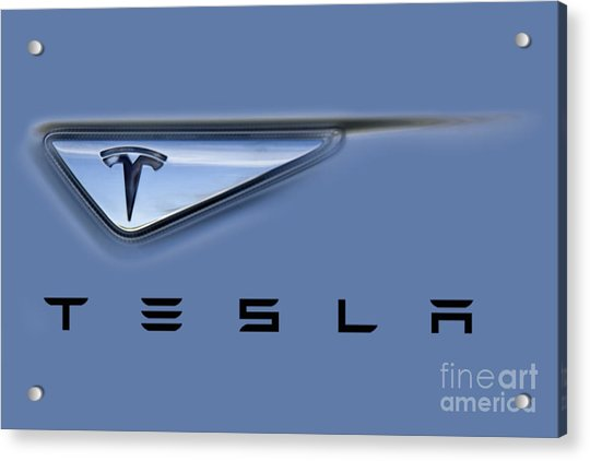 Tesla Artwork Acrylic Print