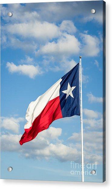 Texas State Flag Waving Acrylic Print