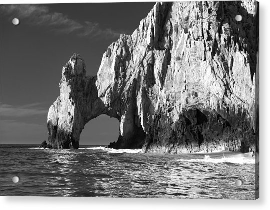 The Arch Cabo San Lucas In Black And White Acrylic Print