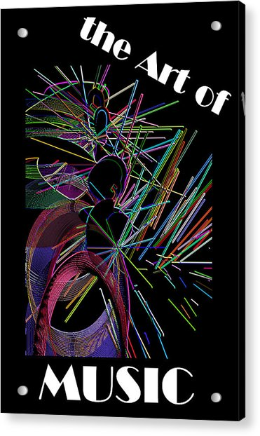 Acrylic Print featuring the digital art The Art Of Music With Spy by Stephen Coenen