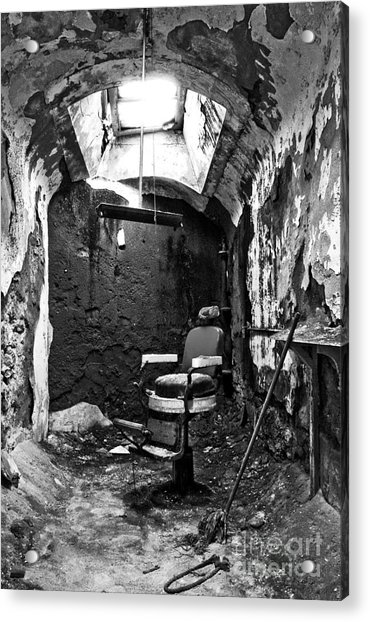 The Barber Chair - Bw Acrylic Print