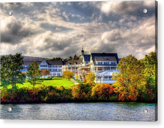 The Beautiful Sagamore Hotel On Lake George Acrylic Print