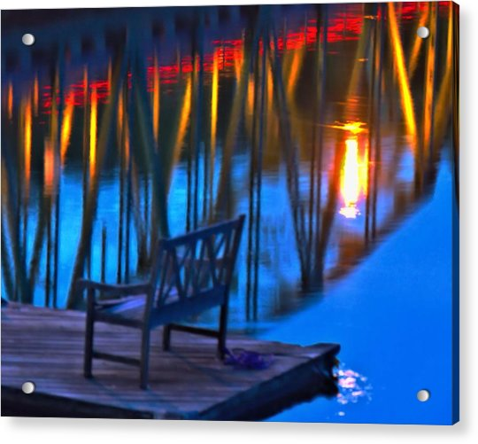 The Bidge At Sunset Acrylic Print