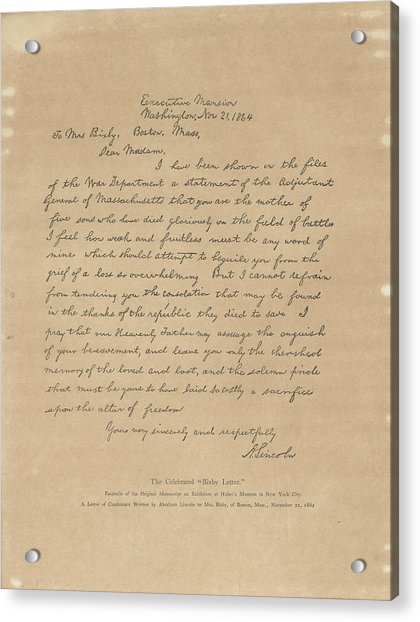 The Bixby Letter Acrylic Print