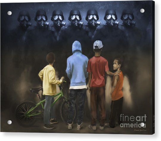 Acrylic Print featuring the digital art The Boogie Men by Dwayne Glapion