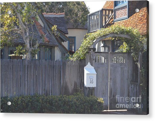 Acrylic Print featuring the photograph The Courtyard  by Laurie Lundquist