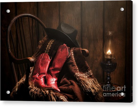 The Cowgirl Rest Acrylic Print