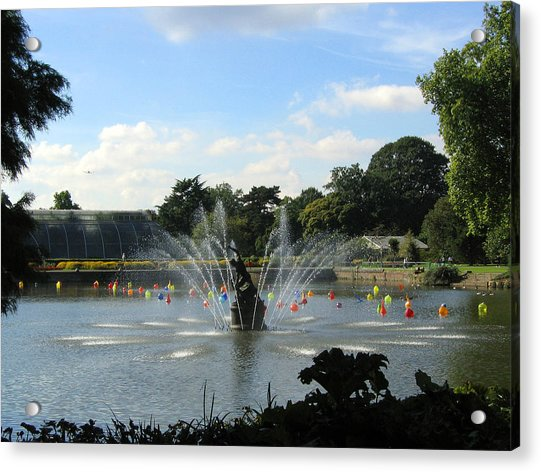 The Fountain At Kew Gardens Acrylic Print