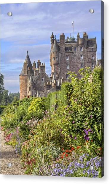 Acrylic Print featuring the photograph The Garden Of Glamis Castle by Jason Politte