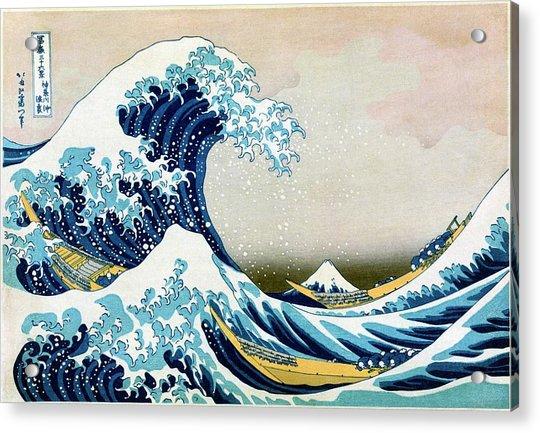 The Great Wave Off Kanagawa Acrylic Print