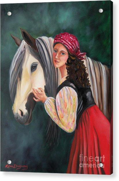 The Gypsy's Vanner Horse Acrylic Print
