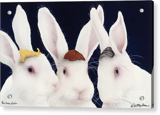 The Hare Club... Acrylic Print by Will Bullas