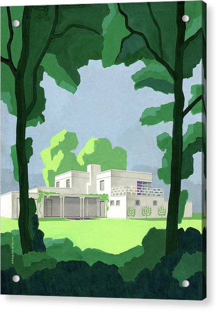 The Ideal House In House And Gardens Acrylic Print