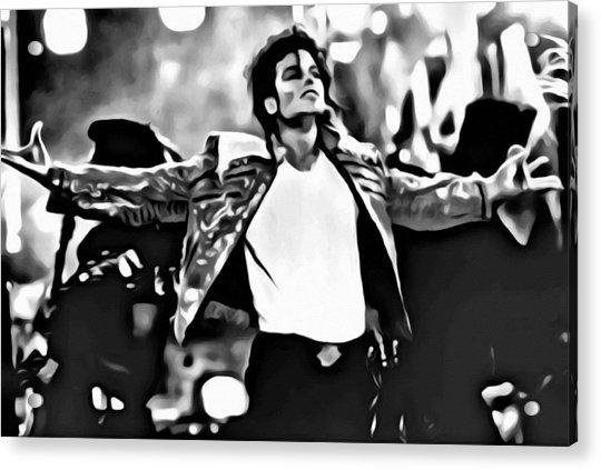 The King Of Pop Acrylic Print